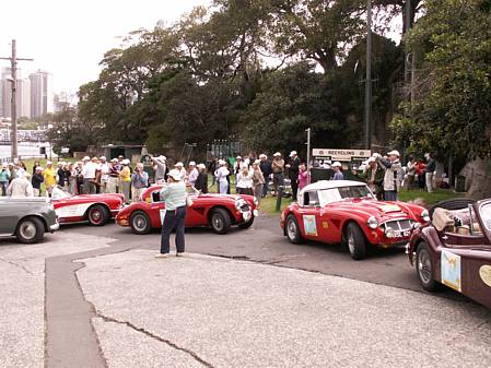 Dyke-Price Healey 3000 and Woodhead Healey 3000 arrive in Sydney