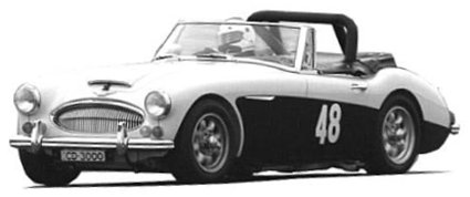 Austin Healey 3000 MKIIIA BJ8 1966 picture - the black & white car
