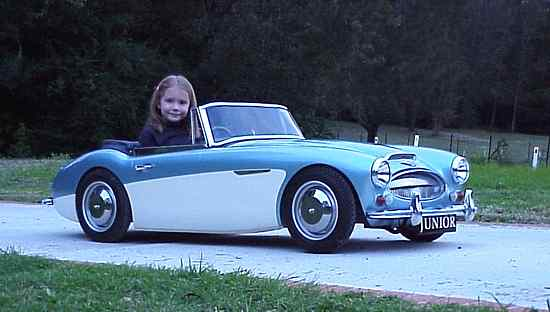 Junior looks like a real healey except the 'driver' is only 6 years old!!