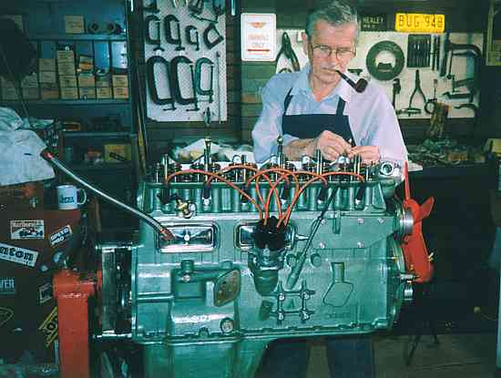 'Uncle' Pete Molloy - nearly finished the Austin Healey 3000 BJ8 (high dipstick) engine
