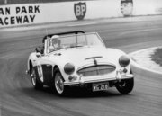 The black & white BJ8 at Oran Park in 1973 driven by Wally Gates